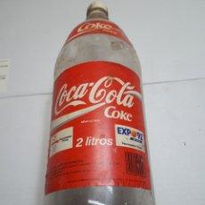 Coleccionismo de Coca-Cola y Pepsi: BOTELLA COCACOLA 2 LITROS EXPO92 CON TAPON. Lote 115323279
