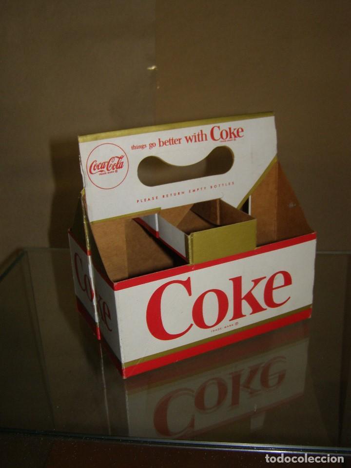 Coleccionismo de Coca-Cola y Pepsi: Antiguo Bottle Carrier Coca-Cola USA. Pack 6. Cartón. Original de 1960s - Foto 2 - 115393499