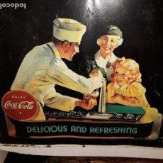Coleccionismo de Coca-Cola y Pepsi: COCA COLA PLACA HOJALATA DE PUBLICITARIA ( AUTENTICA ). Lote 116334827