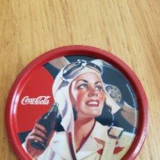 Coleccionismo de Coca-Cola y Pepsi: CAJA METAL CON 4POSAVASOS COCA COLA VINTAGE CON SU CAJA. Lote 116591306