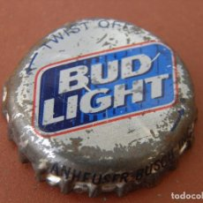 Coleccionismo de Coca-Cola y Pepsi: CHAPA ANTIGUA BEER CERVEZA BUD LIGHT DE BUDWEISER (2). E.E..U.U. -------LOTE N. 820-----CARMANJO. Lote 116610867