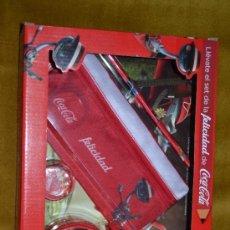 Coleccionismo de Coca-Cola y Pepsi: JUEGO SET ESCOLAR INFANTIL COCA-COLA CON DESPERTADOR. Lote 116916839