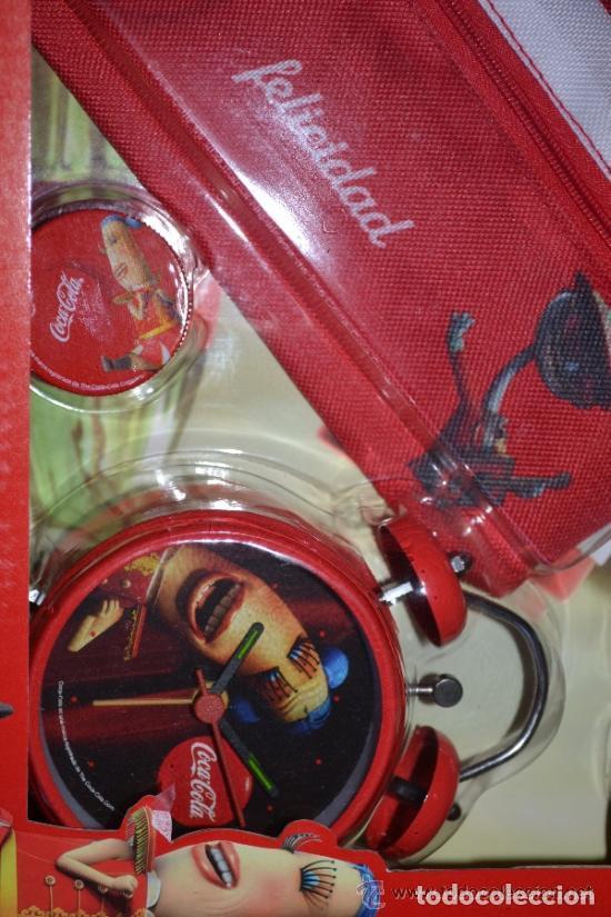 Coleccionismo de Coca-Cola y Pepsi: JUEGO SET ESCOLAR INFANTIL COCA-COLA CON DESPERTADOR - Foto 3 - 116916839