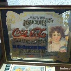 Coleccionismo de Coca-Cola y Pepsi: ANTIGUO ESPEJO COCA-COLA. MEDIDAS: 64X50 CMS. Lote 119383743