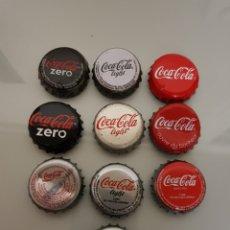 Coleccionismo de Coca-Cola y Pepsi: 10X CHAPA CORONA COCA COLA DIFERENTES.4. Lote 119419220