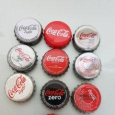 Coleccionismo de Coca-Cola y Pepsi: 10X CHAPA CORONA COCA COLA DIFERENTES.5. Lote 119420506