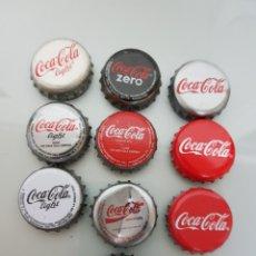 Coleccionismo de Coca-Cola y Pepsi: 10X CHAPA CORONA COCA COLA DIFERENTES.6. Lote 119421154
