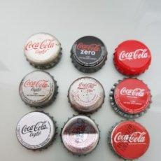 Coleccionismo de Coca-Cola y Pepsi: 10X CHAPA CORONA COCA COLA DIFERENTES.7. Lote 119421976