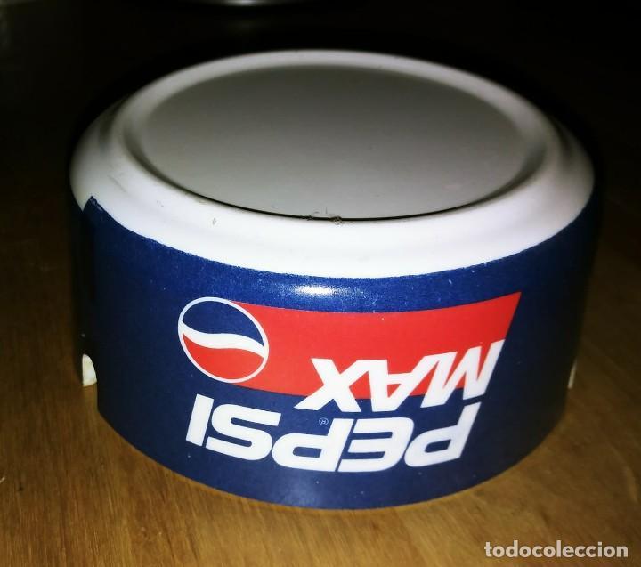 Coleccionismo de Coca-Cola y Pepsi: Cenicero PEPSI MAX Plástico duro. Diámetro 10,2cm Altura 4,8cm - Foto 3 - 119457283