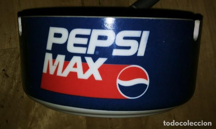 Coleccionismo de Coca-Cola y Pepsi: Cenicero PEPSI MAX Plástico duro. Diámetro 10,2cm Altura 4,8cm - Foto 5 - 119457283