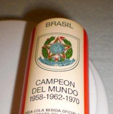 Coleccionismo de Coca-Cola y Pepsi: MERCHANDISING COCA-COLA: BOTE (DE MECHERO) ESPAÑA'82 BRASIL CAMPEÓN DEL MUNDO FORMA LATA COCA-COLA. Lote 119568699