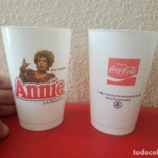 Coleccionismo de Coca-Cola y Pepsi: VASOS PROMOCIONALES PUBLICIDAD COCA COLA VINTAGE AÑO 1982 PELICULA ANNIE COLUMBIA MISS HANNIGAN Nº 4. Lote 121341543