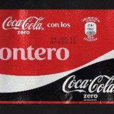 Coleccionismo de Coca-Cola y Pepsi: ETIQUETA DE COCA-COLA ZERO DE 2 LITROS - COMPARTE UNA COCA-COLA CON LOS MONTERO -. Lote 71467943
