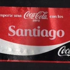 Coleccionismo de Coca-Cola y Pepsi: ETIQUETA DE COCA-COLA ZERO DE 2 LITROS - COMPARTE UNA COCA-COLA CON LOS SANTIAGO -. Lote 66196534