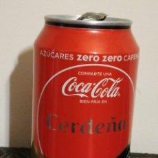 Coleccionismo de Coca-Cola y Pepsi: LATA VACÍA DE COCA-COLA ZERO ZERO CAFEÍNA · COMPARTE UNA COCA-COLA BIEN FRÍA EN CERDEÑA. Lote 123543151