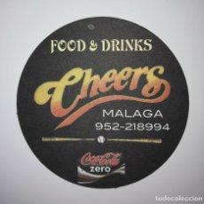 Coleccionismo de Coca-Cola y Pepsi: FOOD & DRINKS MALAGA POSAVASOS PAPEL 9CM COCACOLA ZERO COCA COLA COASTERS IMPRESO A 1 CARA. Lote 124230579