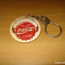Coleccionismo de Coca-Cola y Pepsi: LLAVERO 'EN CONCIERTO CON COCA-COLA'. 4,5 X 4,5 X 0,3 CM. Lote 124550639