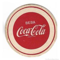 Coleccionismo de Coca-Cola y Pepsi: ANTIGUO POSAVASOS CARTON CUERO COCA COLA. Lote 124691599
