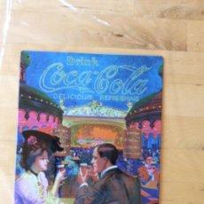 Coleccionismo de Coca-Cola y Pepsi: PRECIOSA PLACA METÁLICA PUBLICIDAD VINTAGE COCA COLA. Lote 125230339
