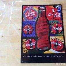 Coleccionismo de Coca-Cola y Pepsi: PRECIOSA PLACA METÁLICA PUBLICIDAD VINTAGE COCA COLA. Lote 125230763