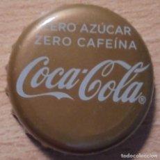 Coleccionismo de Coca-Cola y Pepsi: CHAPA REFRESCO COCA-COLA ZERO ZERO FABRICANTE -U- ZERO AZUCAR ZERO CAFEÍNA.. Lote 126493267