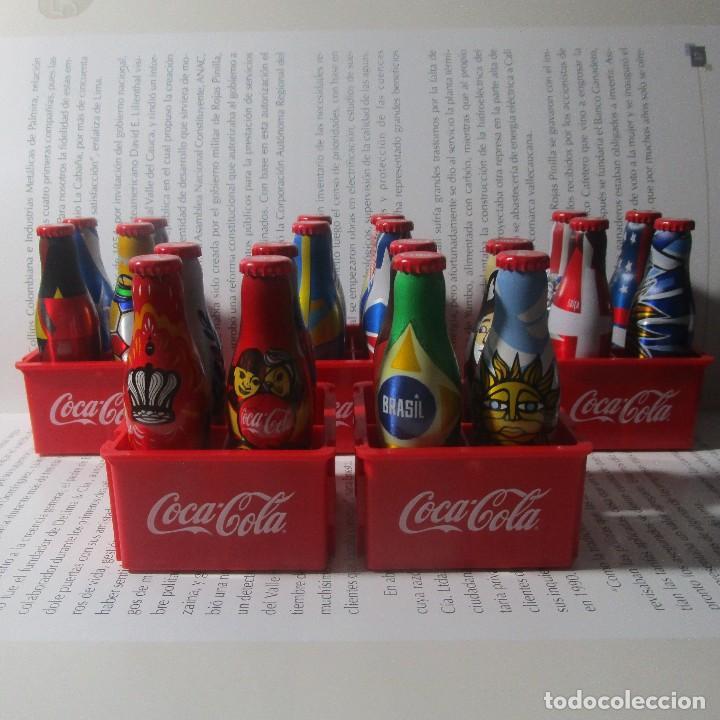 20 BOTELLAS BOTELLITAS COCA COLA MUNDIAL 2014 BOTELLA ALUMINIO 7.5CM ALTO CON 5 CAJON CAJONES (Coleccionismo - Botellas y Bebidas - Coca-Cola y Pepsi)