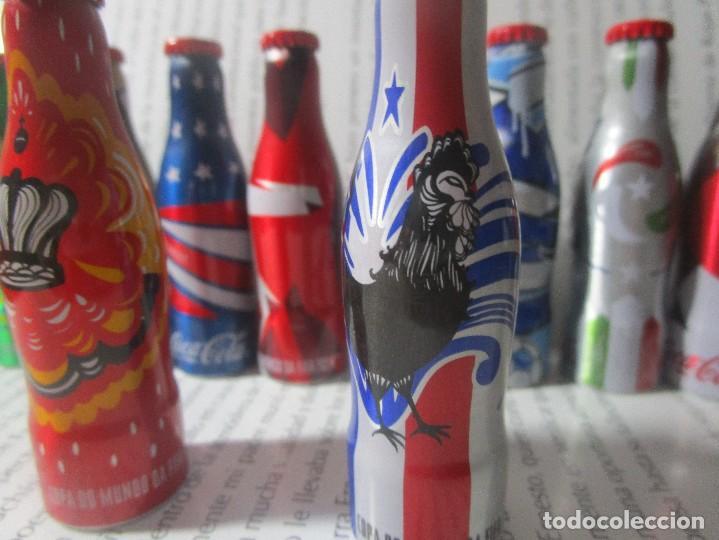 Coleccionismo de Coca-Cola y Pepsi: 20 BOTELLAS BOTELLITAS COCA COLA MUNDIAL 2014 BOTELLA ALUMINIO 7.5CM ALTO CON 5 CAJON CAJONES - Foto 6 - 126649731