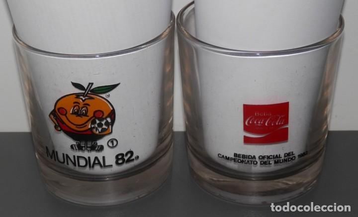 VASO VINTAGE DE LA MARCA COCA-COLA -MUNDIAL 82 Nº1 (Coleccionismo - Botellas y Bebidas - Coca-Cola y Pepsi)