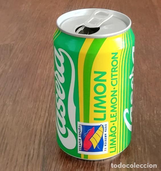 LATA GASEOSA LA CASERA LIMON DESAFIO ESPAÑOL COPA AMERICA 95. BOTE CAN REFRESCO (Coleccionismo - Botellas y Bebidas - Coca-Cola y Pepsi)