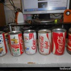 Coleccionismo de Coca-Cola y Pepsi: LOTE LATA BOTELLA ANTIGUAS COCA-COLA. Lote 127659099