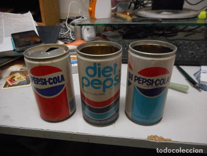 Coleccionismo de Coca-Cola y Pepsi: lote 3 lata pepsi-cola vacias - Foto 2 - 127659711
