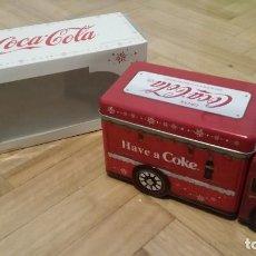 Coleccionismo de Coca-Cola y Pepsi: CAJA LATA CAMIÓN DE NAVIDAD COCA-COLA. Lote 127899407
