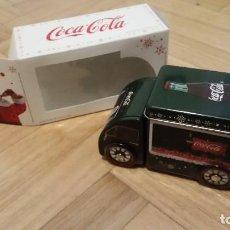 Coleccionismo de Coca-Cola y Pepsi: CAJA LATA CAMIÓN DE NAVIDAD COCA-COLA. Lote 127899483