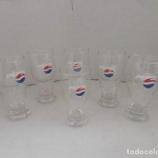 Coleccionismo de Coca-Cola y Pepsi: 6 VASOS DE LA MARCA PEPSI. Lote 128122227