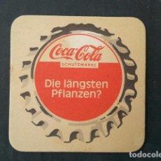 Coleccionismo de Coca-Cola y Pepsi: ANTIGUO POSAVASOS DE COCA COLA COCACOLA AÑOS 60/70 DE ALEMANIA. Lote 128607667