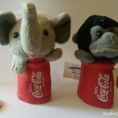 Coleccionismo de Coca-Cola y Pepsi: PEQUEÑOS PELUCHES DE COCA COLA MARIONETAS PARA DEDOS PLAY BY PLAY 1998. Lote 128864067
