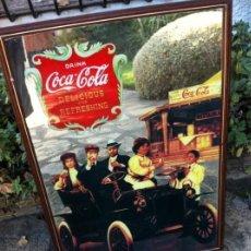 Coleccionismo de Coca-Cola y Pepsi: ESPEJO COCA-COLA GRAN TAMAÑO. COCHE CLÁSICO.. Lote 130017827