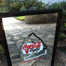 Coleccionismo de Coca-Cola y Pepsi: ESPEJO COCA-COLA LIGHT DISFRUTA COMO NUNCA.. Lote 130018087