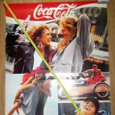 Coleccionismo de Coca-Cola y Pepsi: CARTEL POSTER ORIGINAL COCA COLA SENSACION DE VIVIR LOS 40 PRINCIPALES HERACLIO FOURNIER 1989. Lote 130297598