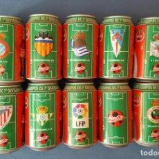 Coleccionismo de Coca-Cola y Pepsi: COLECCIÓN 10 LATAS LIGA 96-97 COCA COLA. Lote 130676194