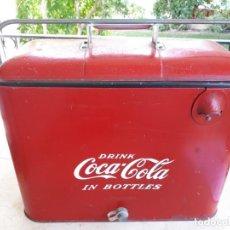 Coleccionismo de Coca-Cola y Pepsi: ANTIGUA NEVERA COCA-COLA AMERICANA DE HIELO PIC NIC. ORIGNAL AÑOS 40S. LOUISVILLE NEW YORK, USA.. Lote 130779036