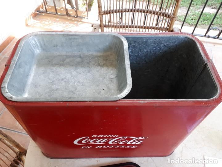 Coleccionismo de Coca-Cola y Pepsi: Antigua Nevera Coca-Cola Americana de Hielo Pic Nic. Orignal años 40s. Louisville New York, USA. - Foto 5 - 130779036