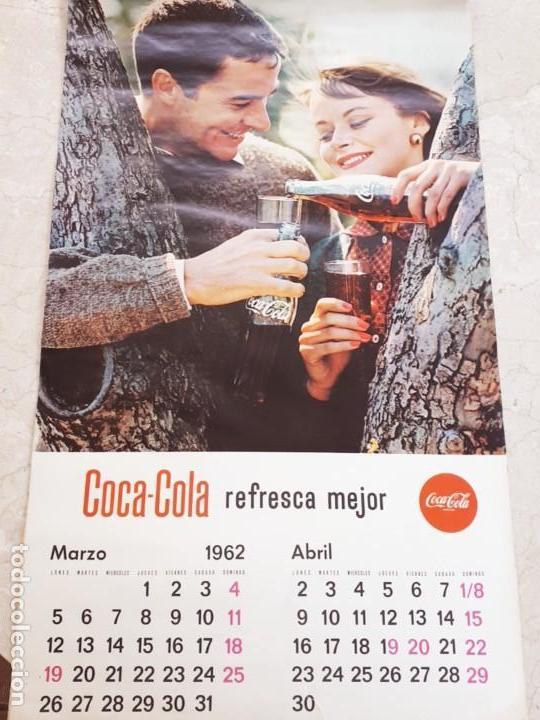 Coleccionismo de Coca-Cola y Pepsi: 1962 Coca-Cola. Calendario Completo. De pared. Impreso por Seix Barral (Barcelona) - Foto 2 - 130826636