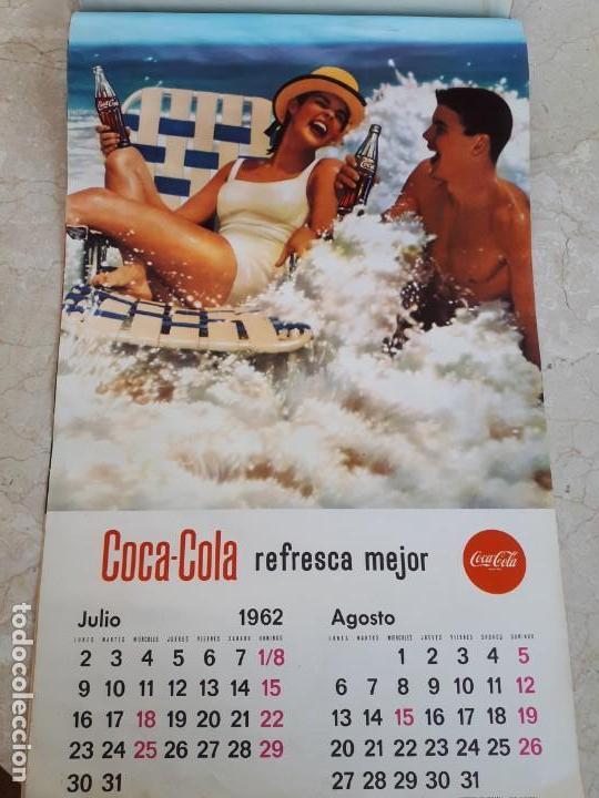 Coleccionismo de Coca-Cola y Pepsi: 1962 Coca-Cola. Calendario Completo. De pared. Impreso por Seix Barral (Barcelona) - Foto 4 - 130826636
