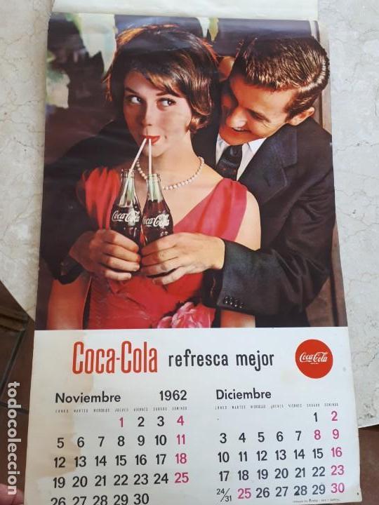 Coleccionismo de Coca-Cola y Pepsi: 1962 Coca-Cola. Calendario Completo. De pared. Impreso por Seix Barral (Barcelona) - Foto 6 - 130826636