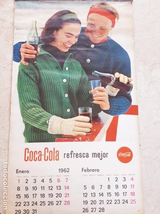 1962 COCA-COLA. CALENDARIO COMPLETO. DE PARED. IMPRESO POR SEIX BARRAL (BARCELONA) (Coleccionismo - Botellas y Bebidas - Coca-Cola y Pepsi)
