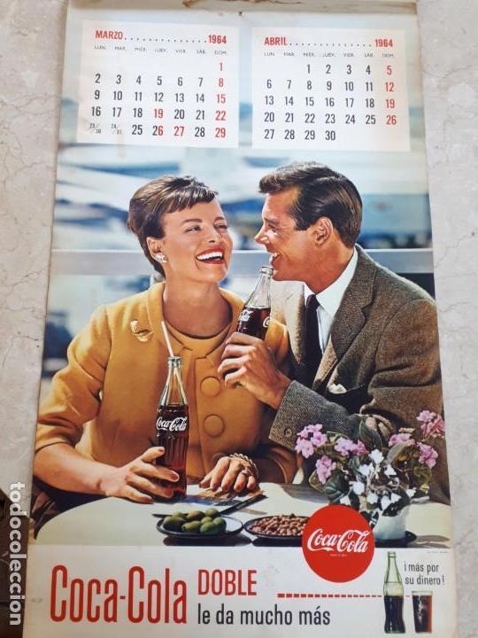 Coleccionismo de Coca-Cola y Pepsi: 1964 Coca-Cola. Calendario Completo. Impreso por Seix Barral (Barcelona) - Foto 2 - 130827012