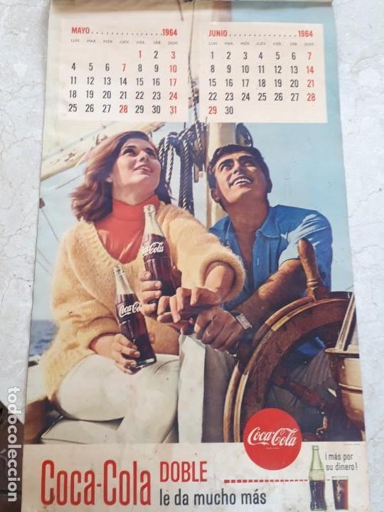 Coleccionismo de Coca-Cola y Pepsi: 1964 Coca-Cola. Calendario Completo. Impreso por Seix Barral (Barcelona) - Foto 3 - 130827012
