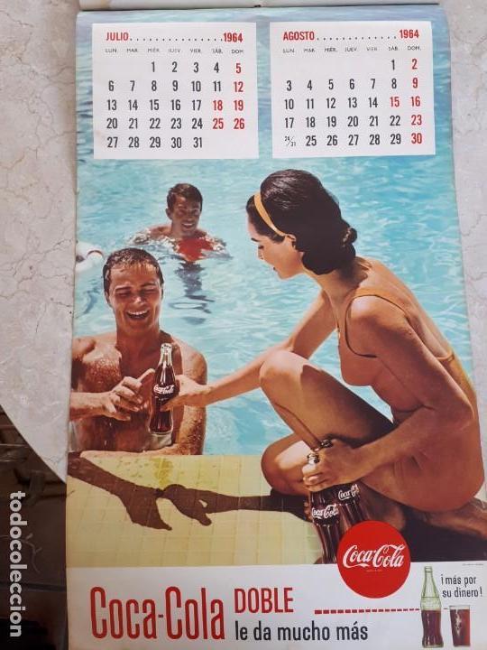 Coleccionismo de Coca-Cola y Pepsi: 1964 Coca-Cola. Calendario Completo. Impreso por Seix Barral (Barcelona) - Foto 4 - 130827012