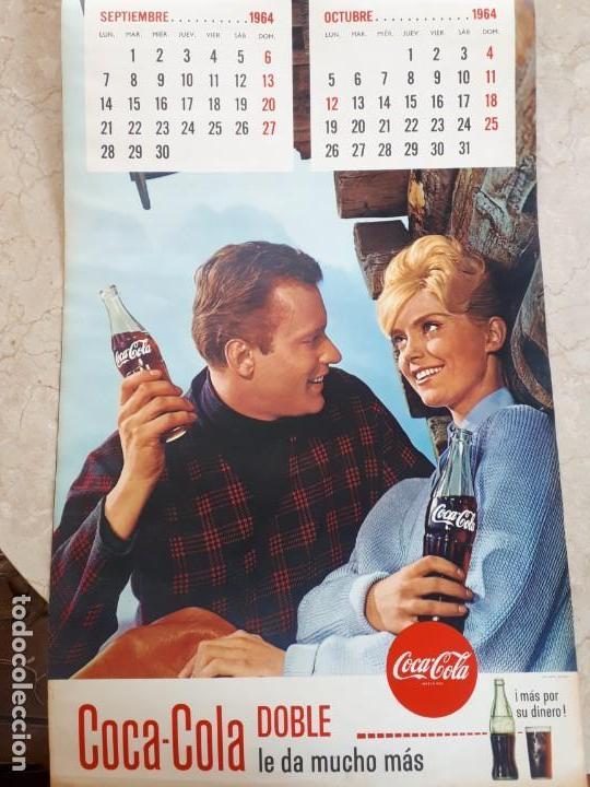 Coleccionismo de Coca-Cola y Pepsi: 1964 Coca-Cola. Calendario Completo. Impreso por Seix Barral (Barcelona) - Foto 5 - 130827012